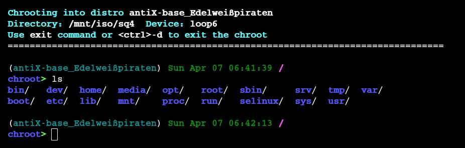 chroot-recue-scan screenshot 2