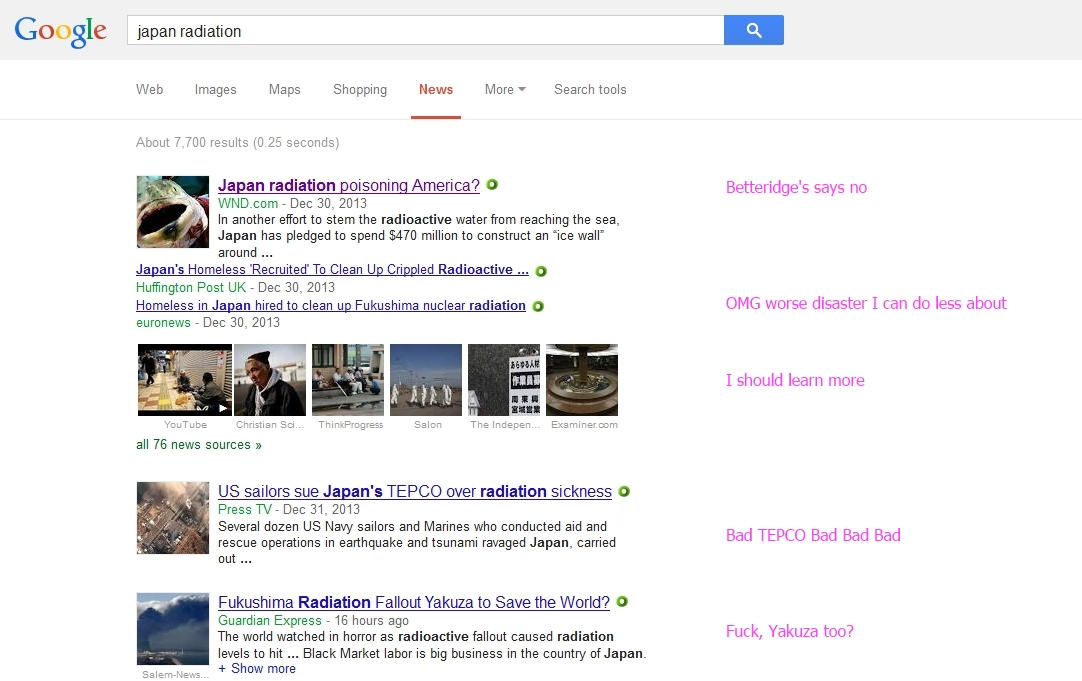 google news search japan radiation