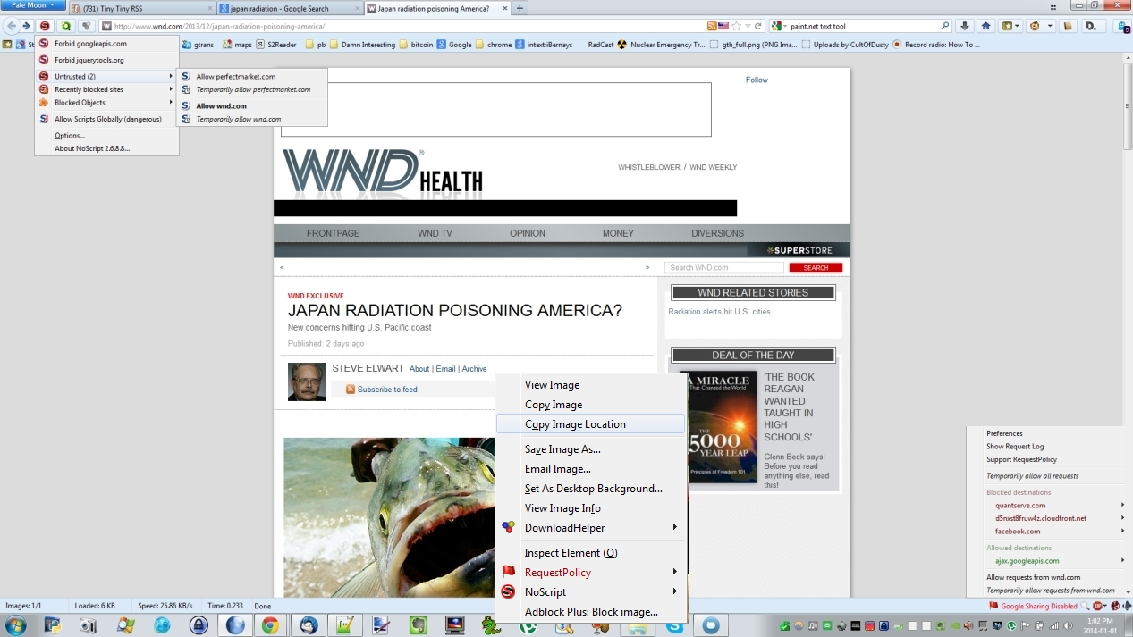 WND EXCLUSIVE - Japan radiation poisoning America?