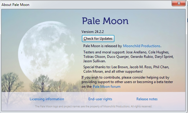 If you are on Windows 7, you owe it to yourself to check Palemoon out
