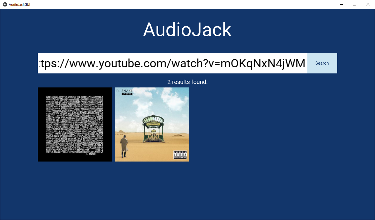 AudioJack-GUI in action