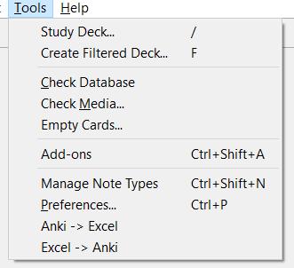Anki Excel Sync - AnkiWeb