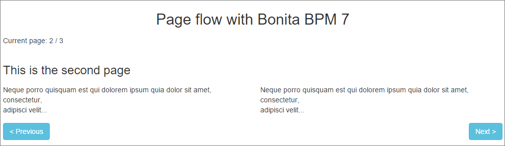 Pageflow form created with Bonita BPM 7