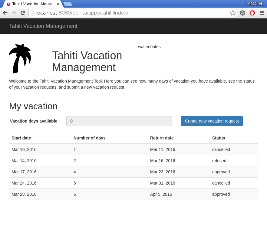 Vacation Management Application