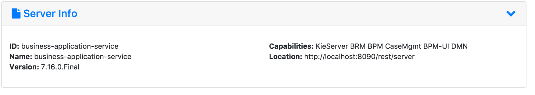 Server info