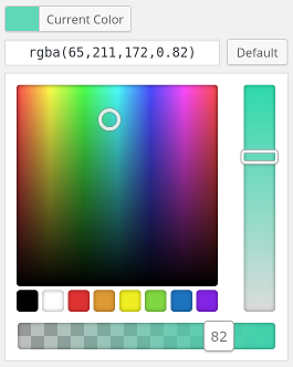WordPress Alpha Color Picker