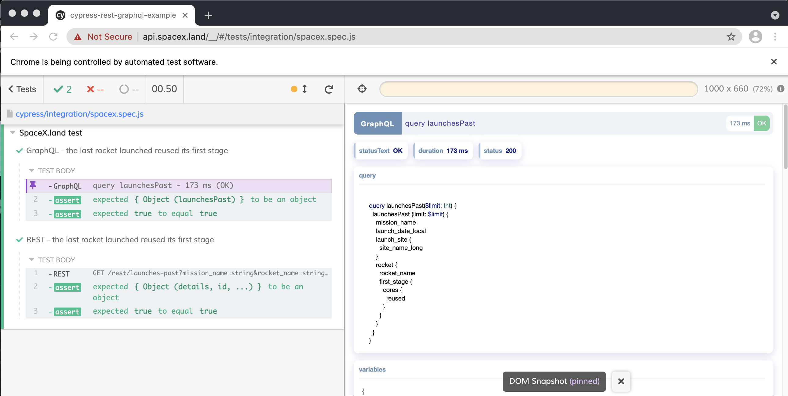 API testing in the browser?
