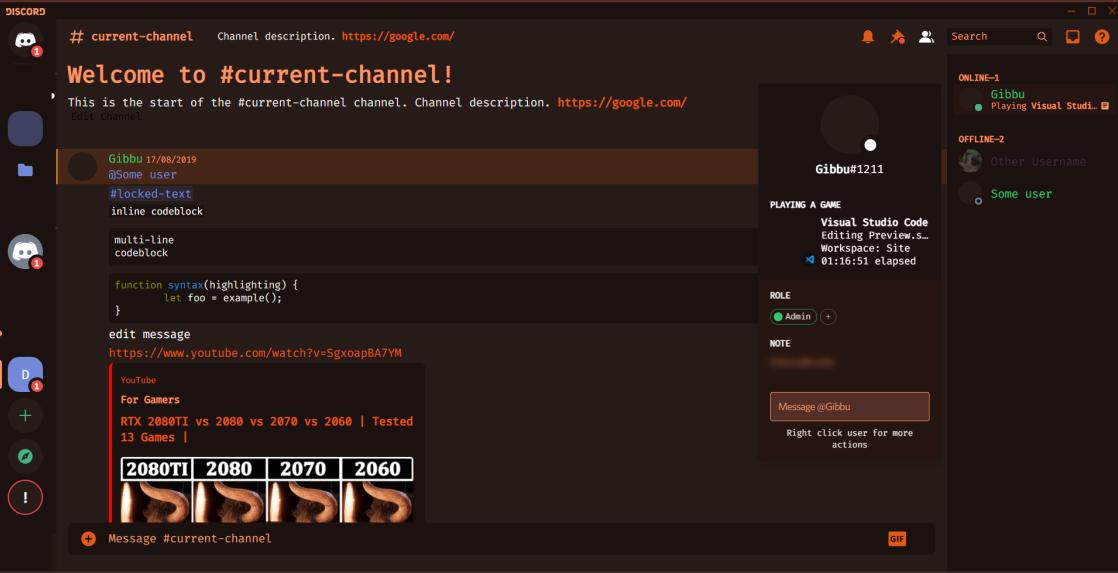 Discord Lantern Theme screenshot