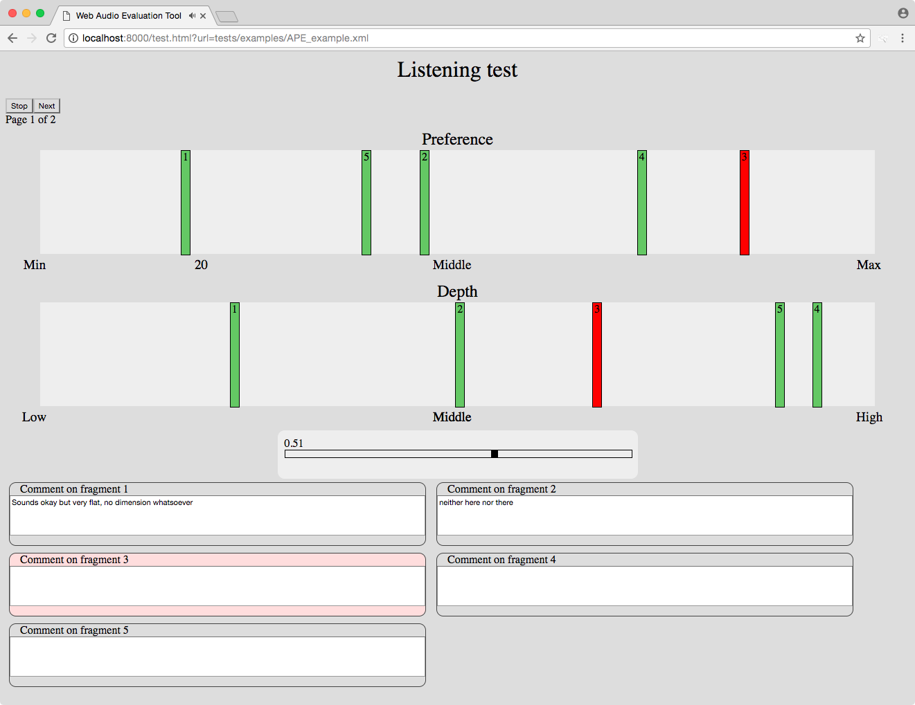 Interfaces Brechtdeman Webaudioevaluationtool Wiki Github Abx Double Blind Audio Tester Discrete Each Element Is Given A Set Of Values Based On The Number Slider Options Specified For Instance Likert Specifies 5 And