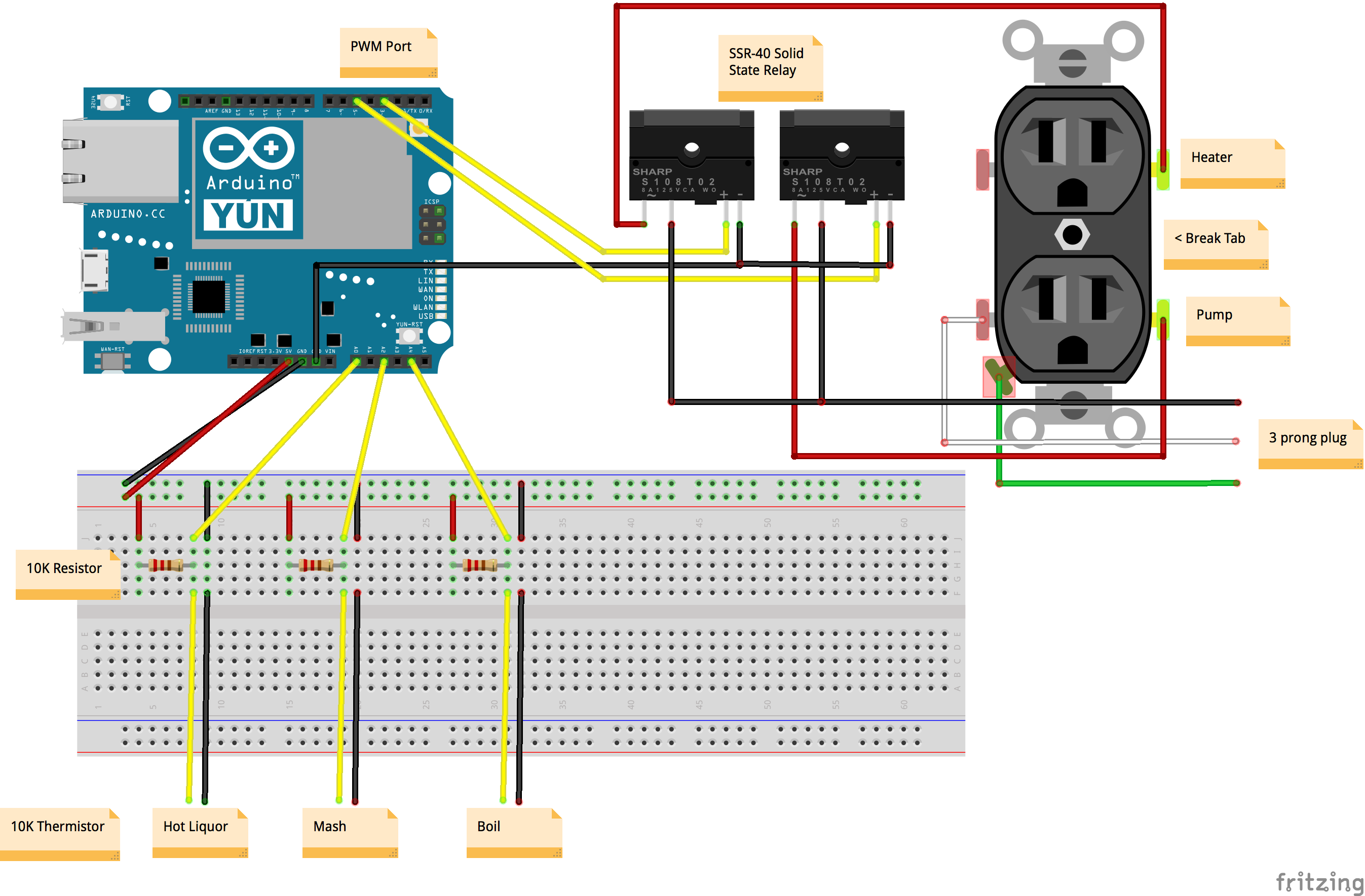 Arduino Yun Brewbench Forum Solid State Contactor Wire Diagram With Relay