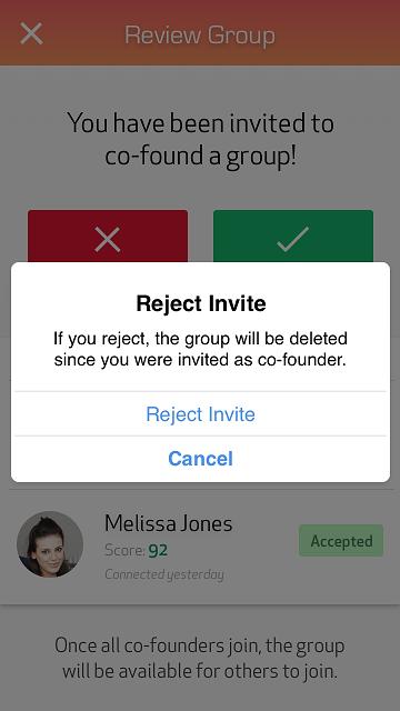 Reject Invite Confirmation
