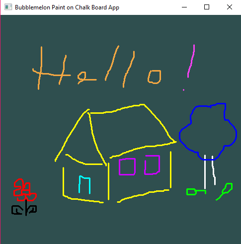 A picture that shows the Chalk App with a drawing