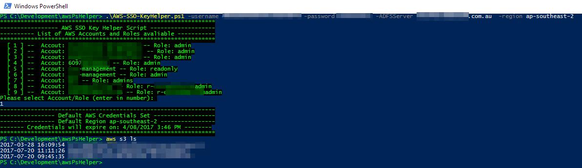 GitHub - Buzzcola81/AWS-SSO-KeyHelper: PowerShell script to