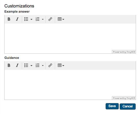 Customizations editor