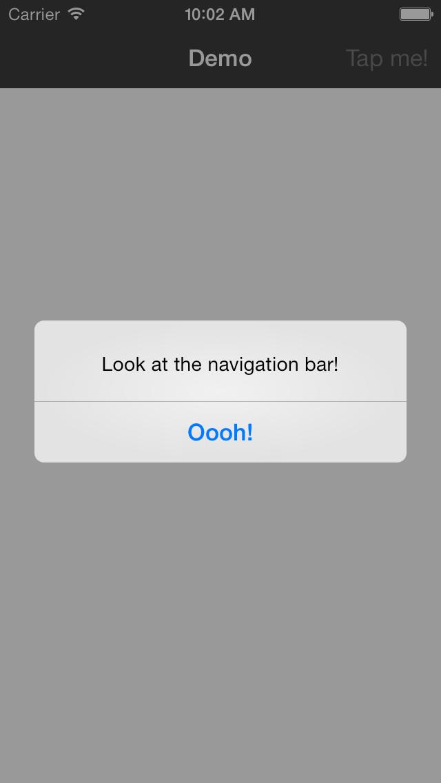 Dimmed navigation bar