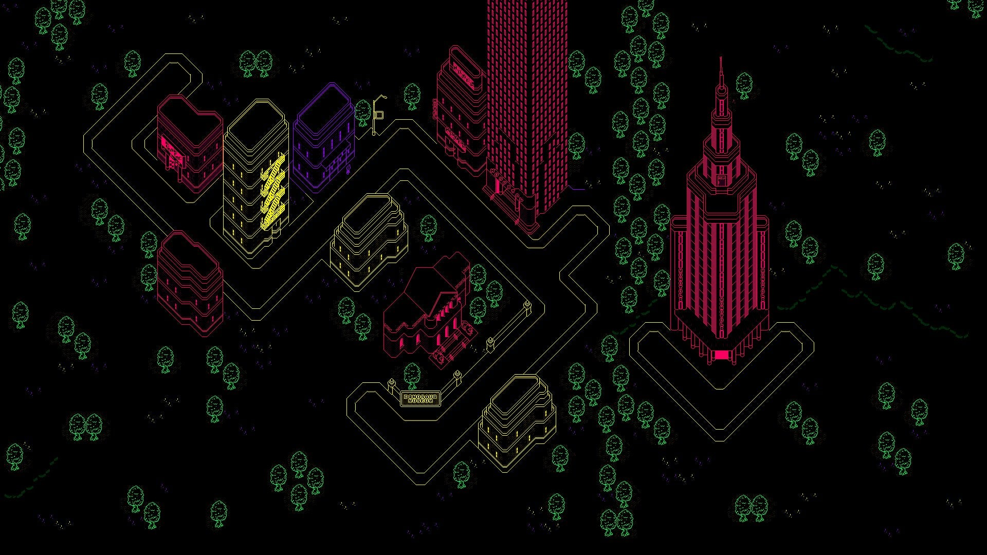 The moonside map from Earthbound