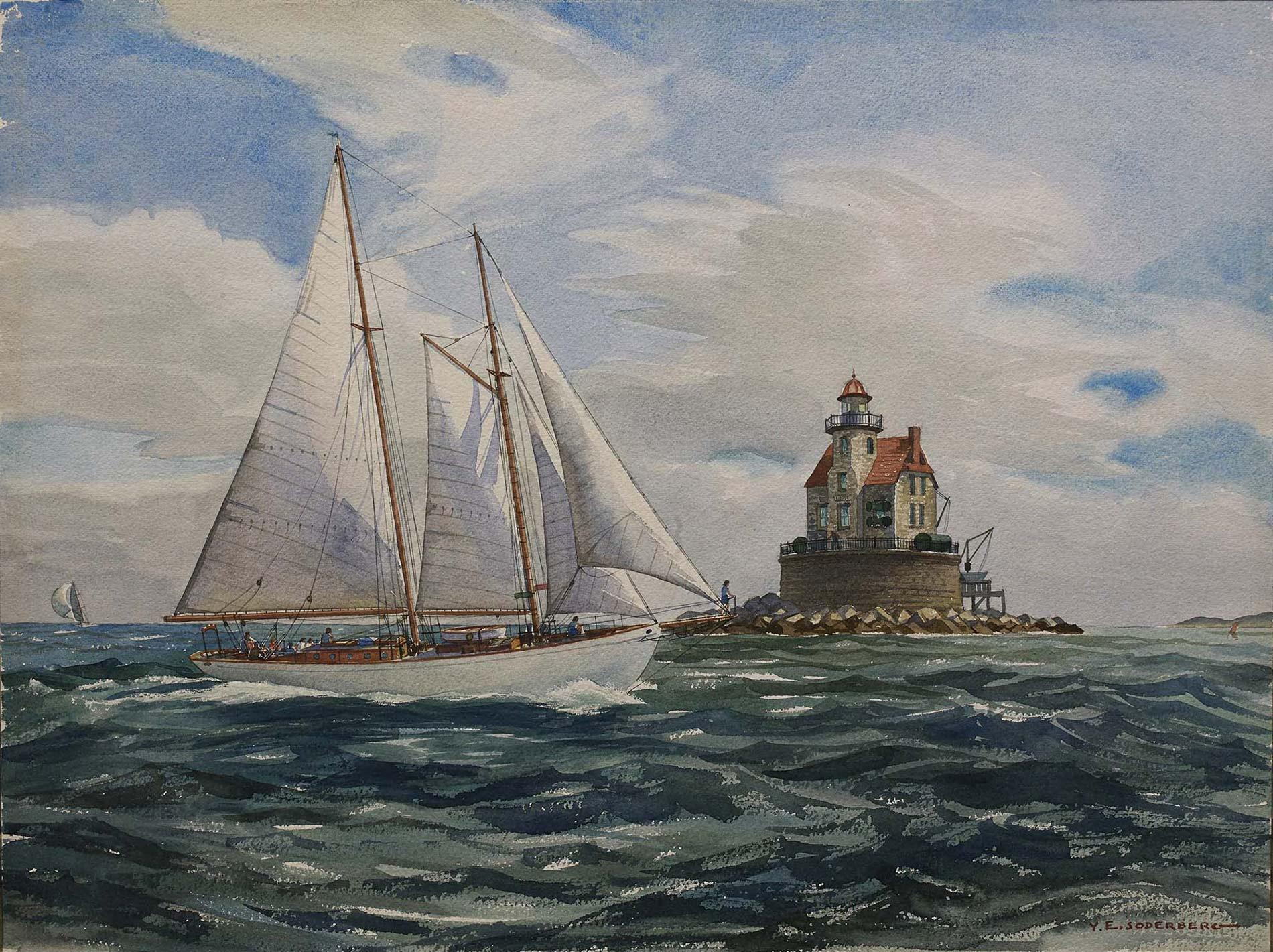 Schooner yacht Brilliant.