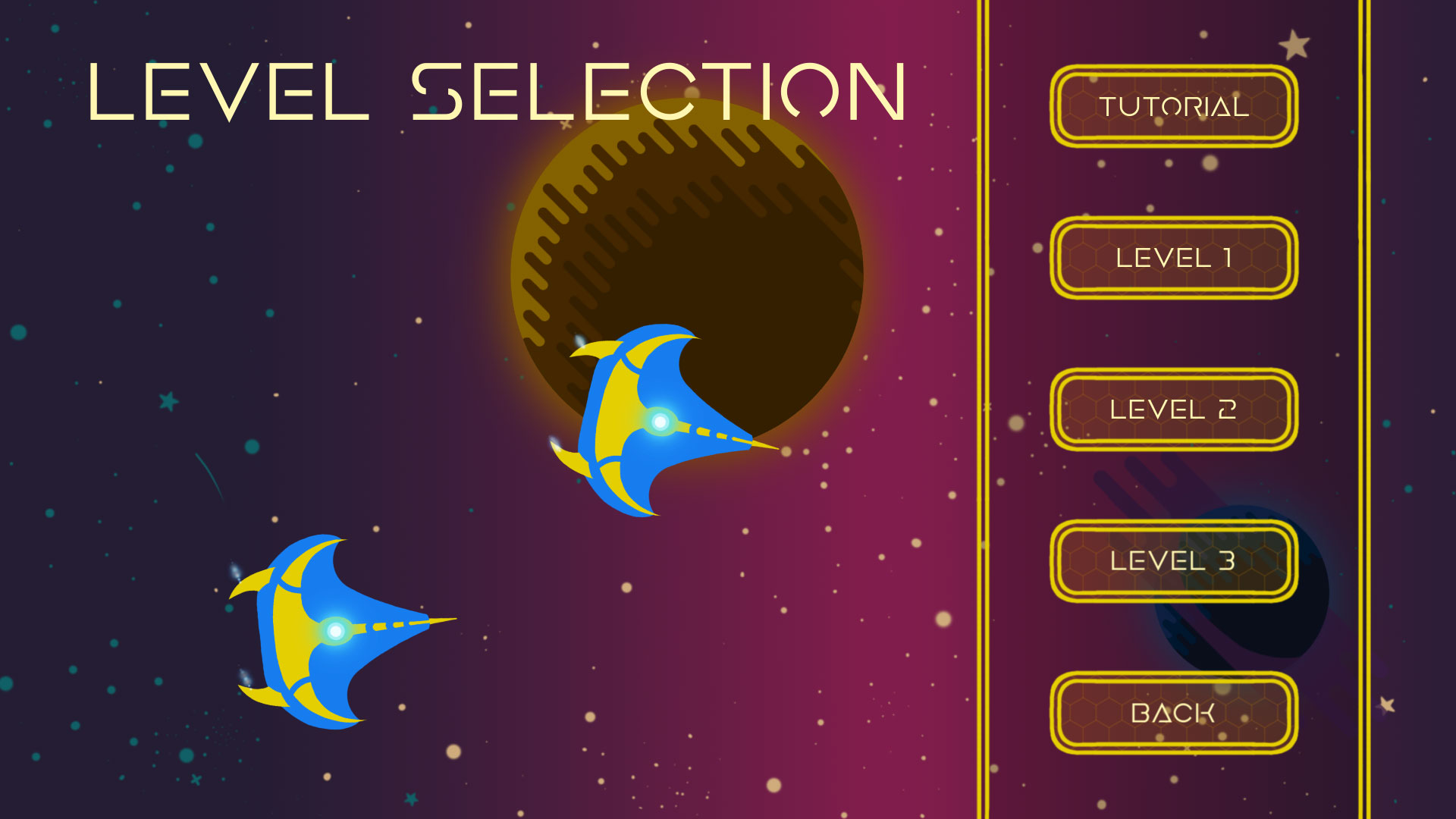 Screenshot of the level selection menu