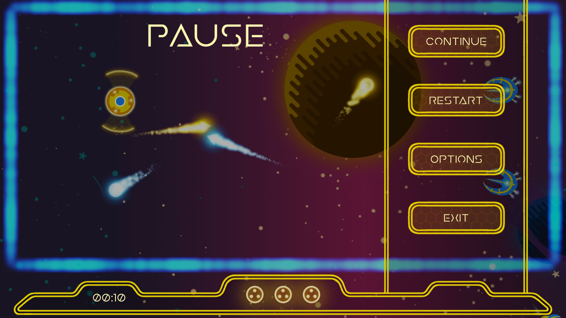 Screenshot of the pause menu