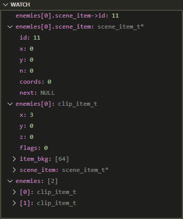 C Inspection of C Types in Watch expressions