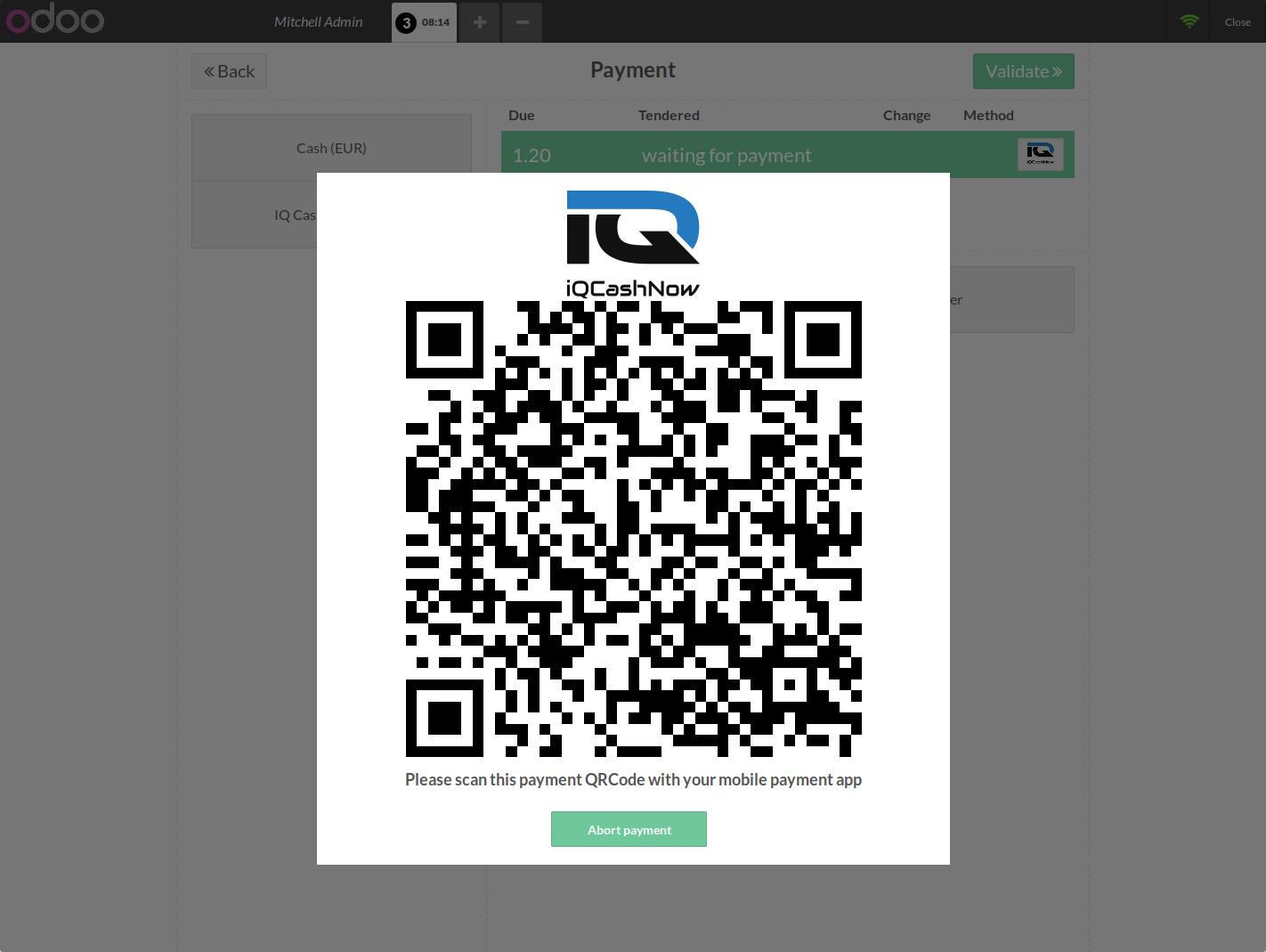 POS Payment screen