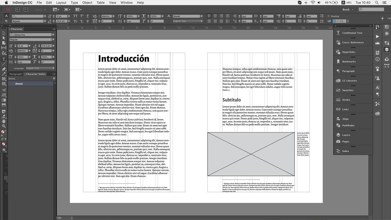 Instancia digital de una pieza de diseño analógica, un libro.