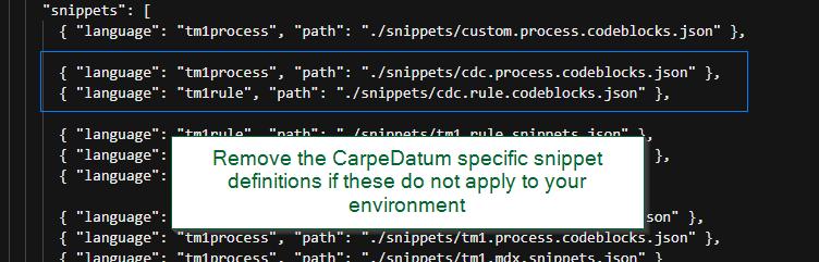 CarpeDatum Snippets
