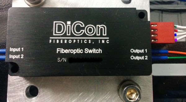 A picture of a DiCon fiber optic switch