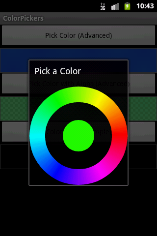 Simple circle color picker from Android SDK