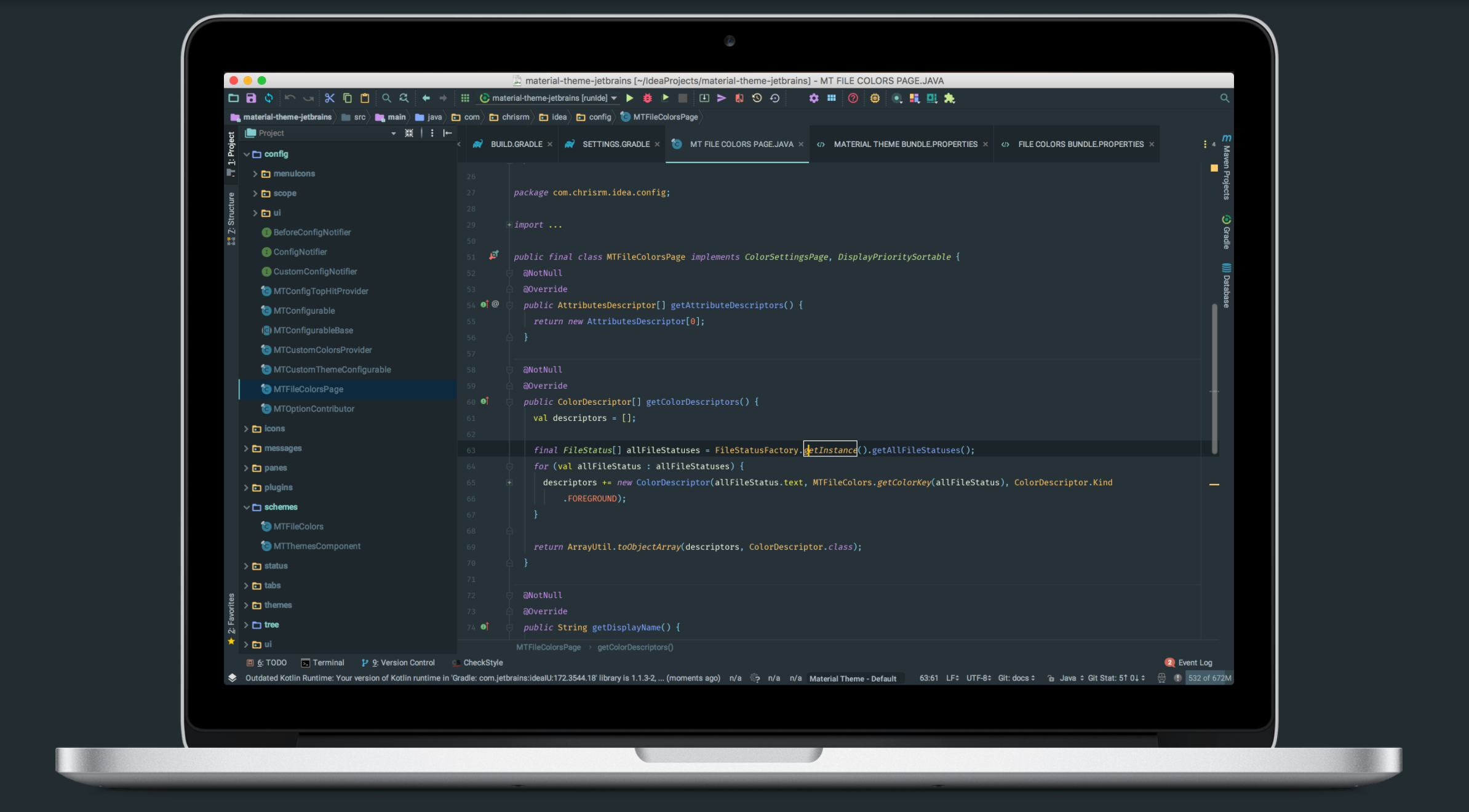 The Android Arsenal - IDE Plugins - material-theme-jetbrains