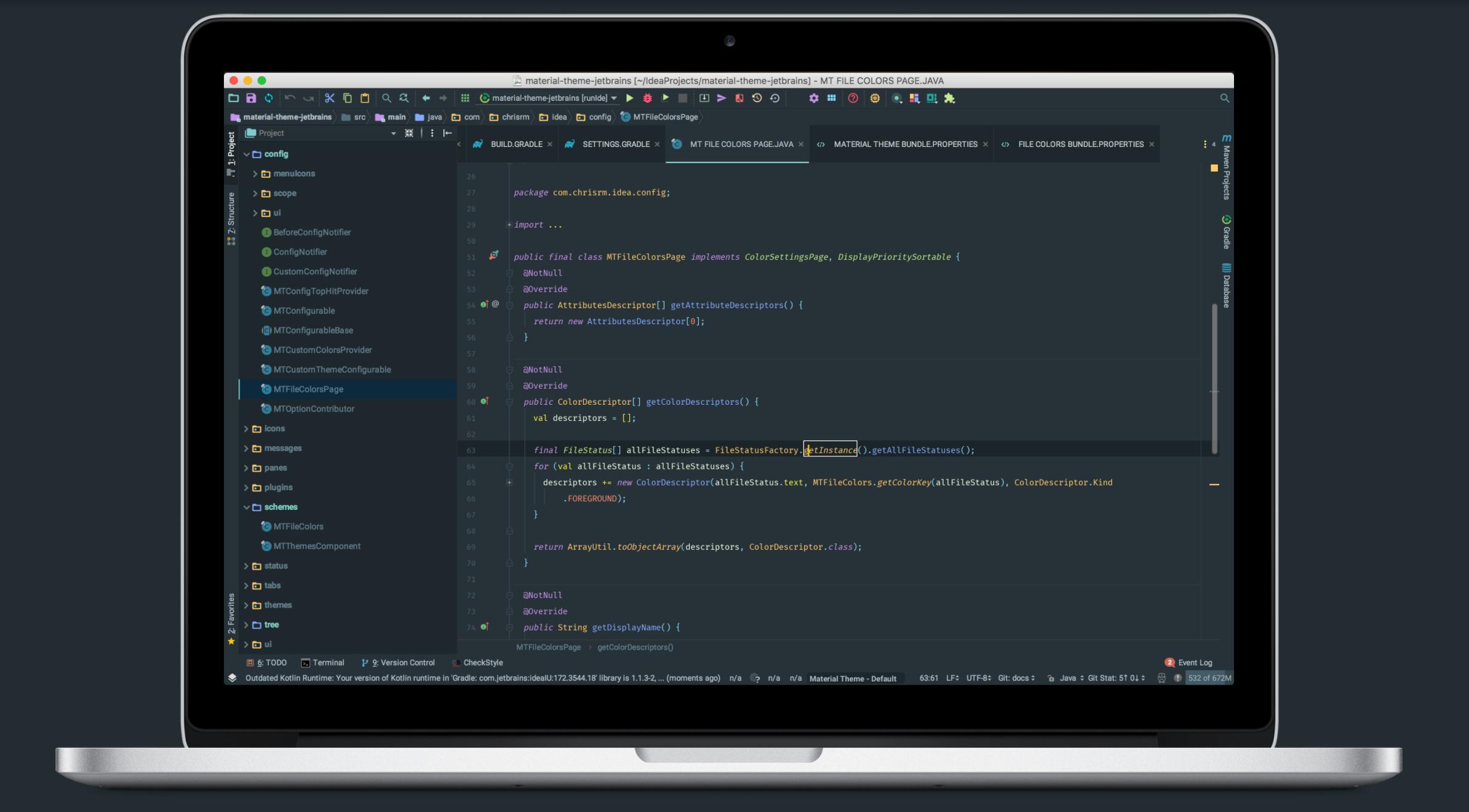 material-theme-jetbrains JetBrains theme of Ma @codeKK AndroidOpen