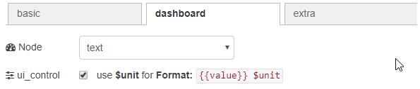 dashboard text