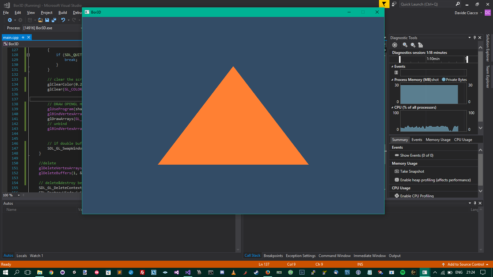 first triangle and simple shader