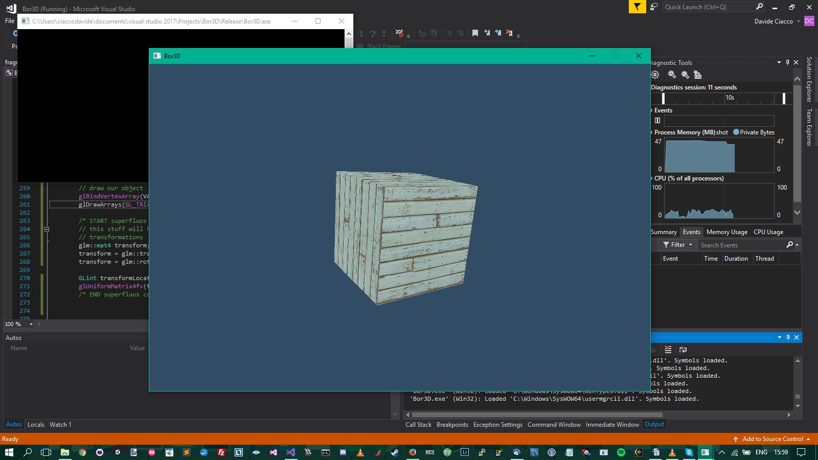 projection, 3d cube