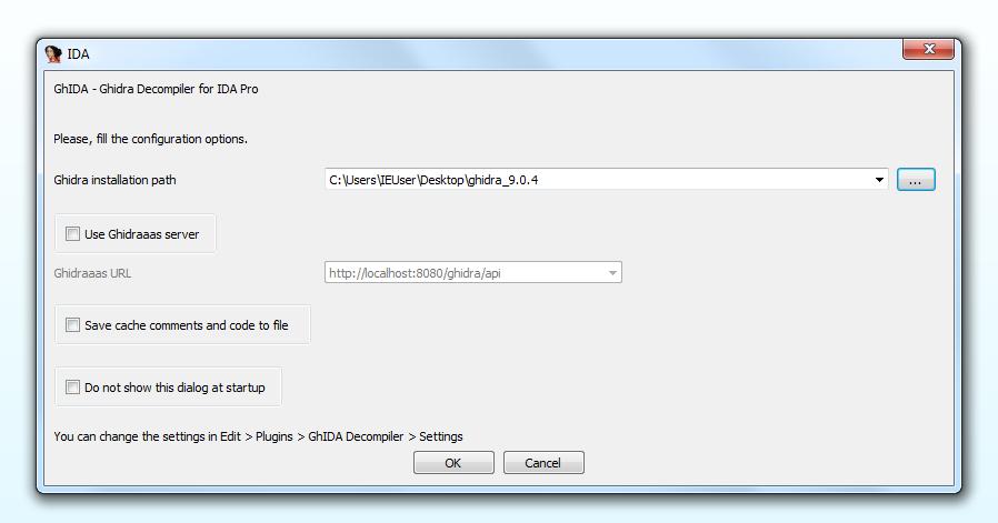 Decompiler settings image