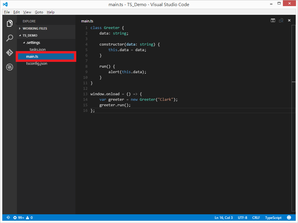 Tool visual studio code typescript clark159 for Window onload javascript