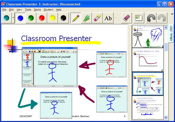 Classroom Presenter Screenshot