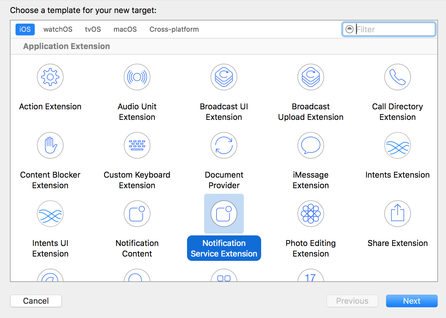 notification service extension
