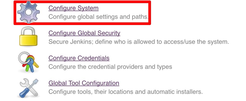 configure system