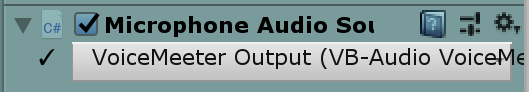 Microphone audio source GUI