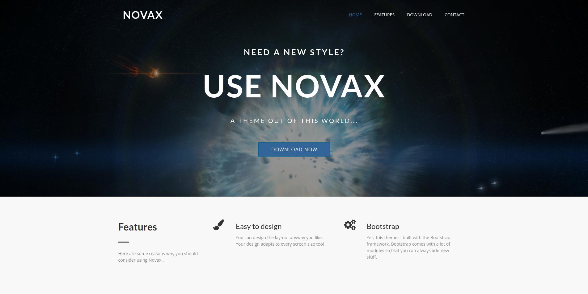 The NovaX Theme