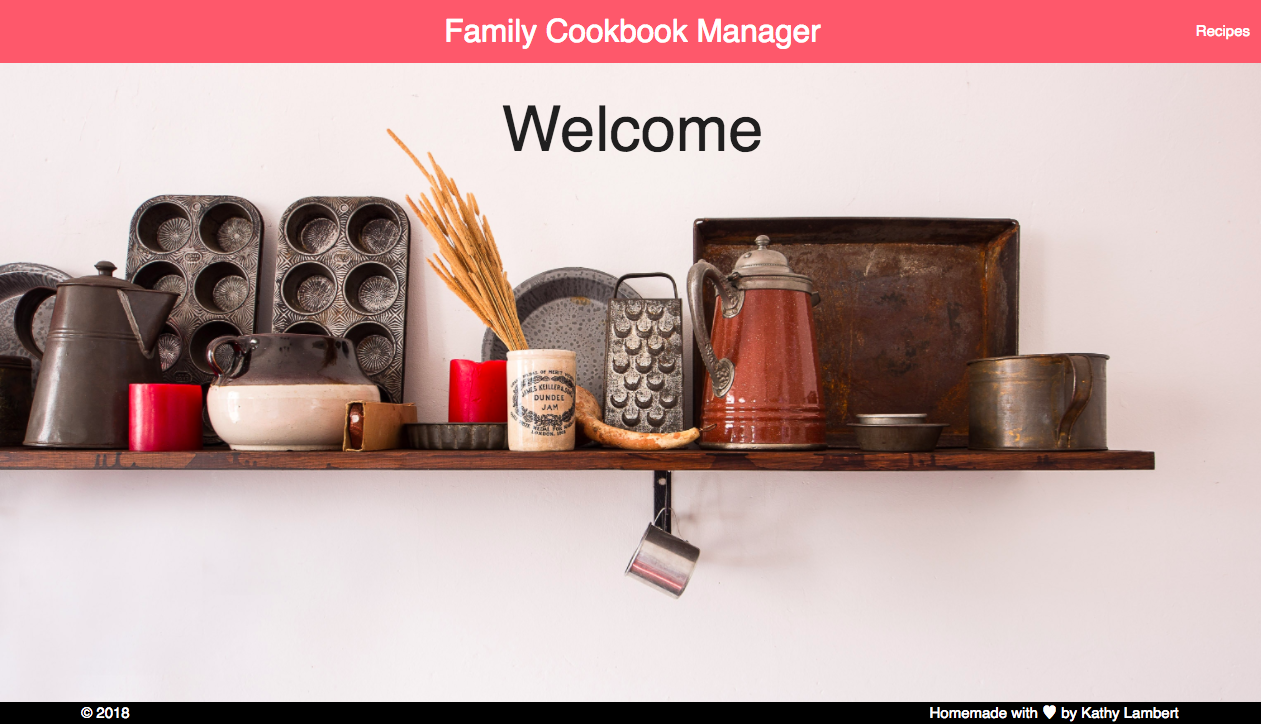 Family Cookbook Manager