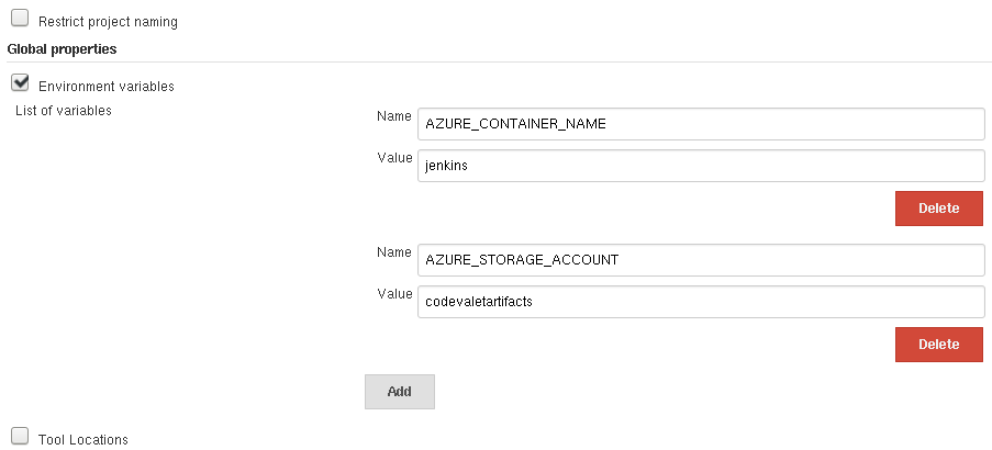 Configuring Environent Variables