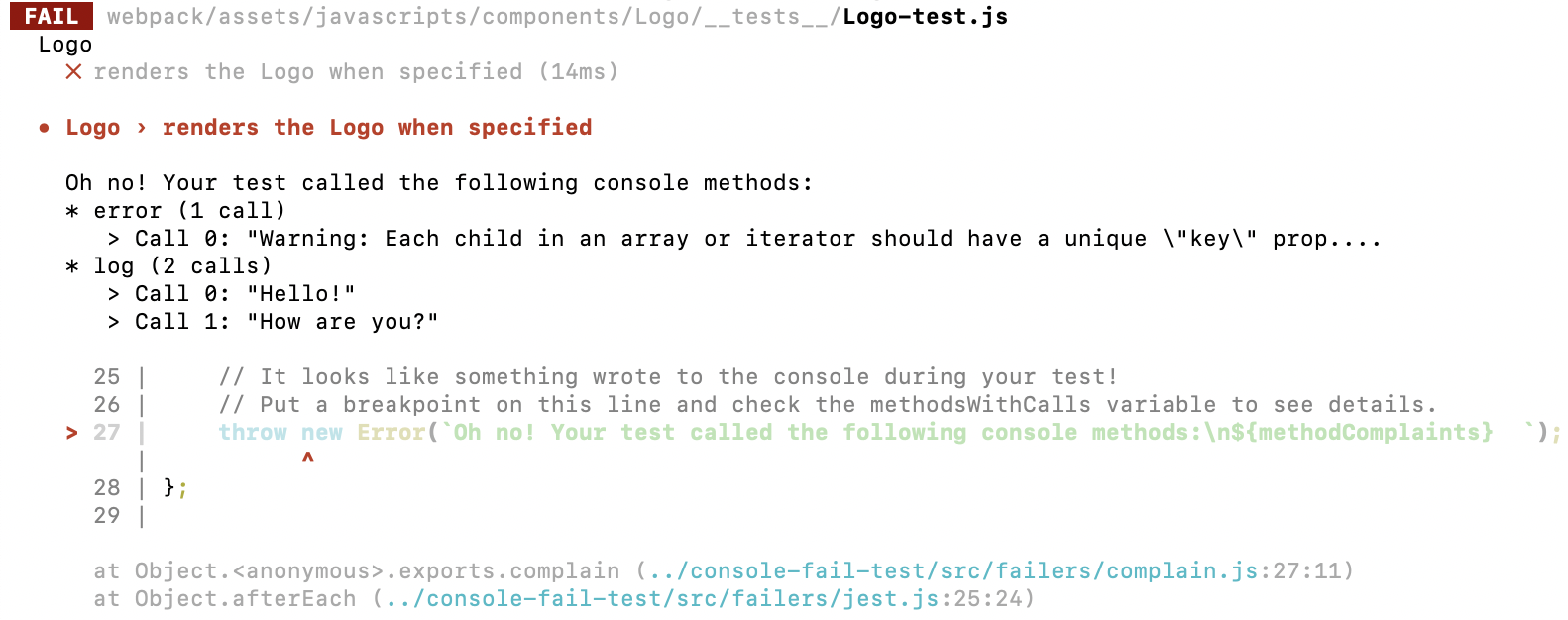 console-fail-test - npm
