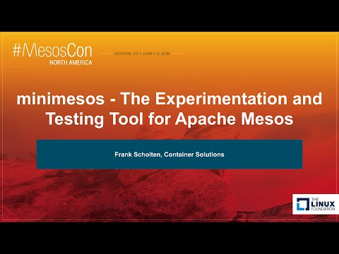 minimesos - The Experimentation and Testing tool for Apache Mesos by Frank