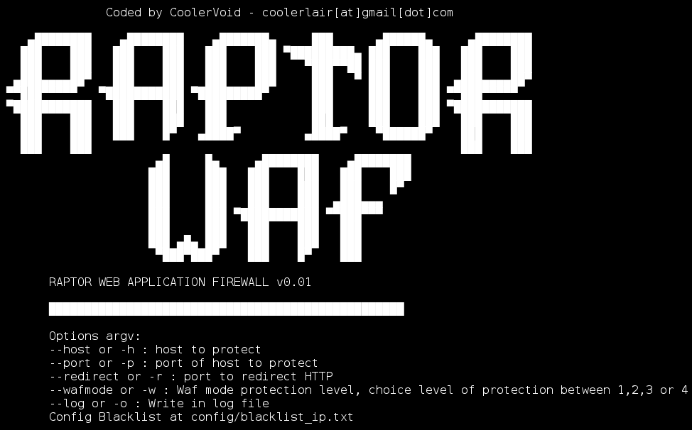 Raptor WAF application