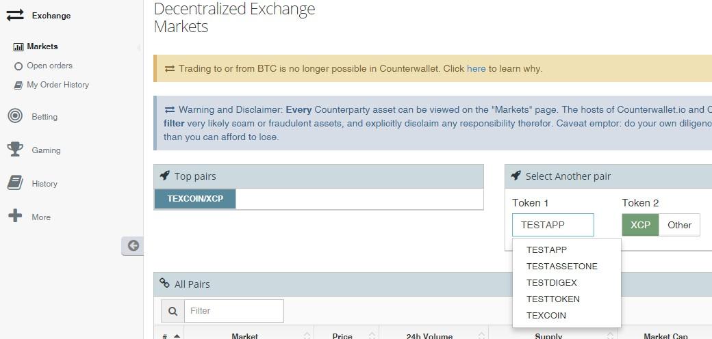 decentralized exchange