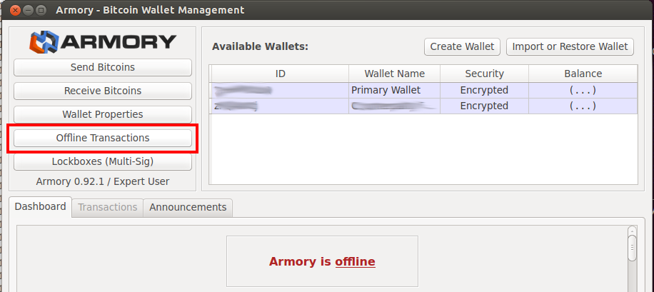 Create Armory Address