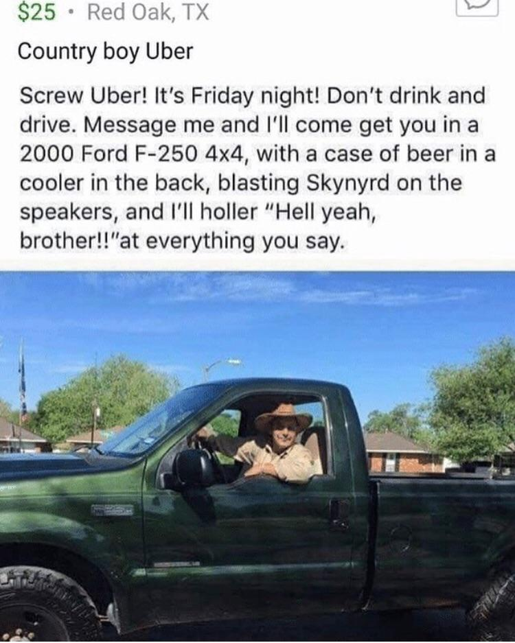 country boy uber